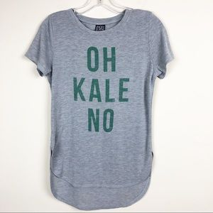 "Modern Lux ""OH KALE NO"" Short Sleeve T-shirt XS"